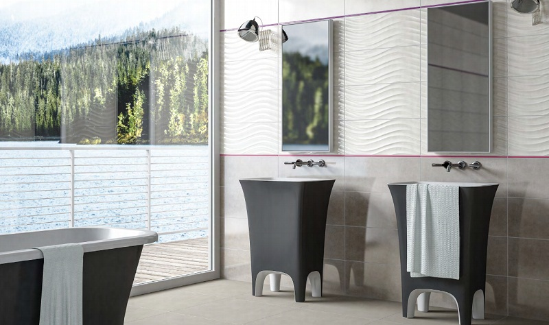 Moderno : wave pearl 25x60